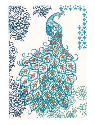 Journal : Handmade LG Embroidered - Peacock