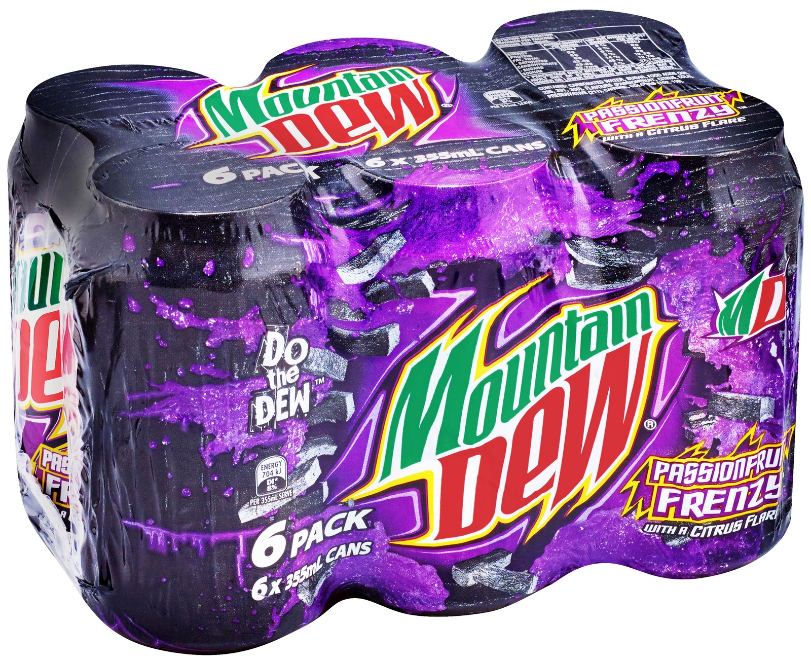 Mountain Dew Passionfruit Cans 355ml (24 Pack) image