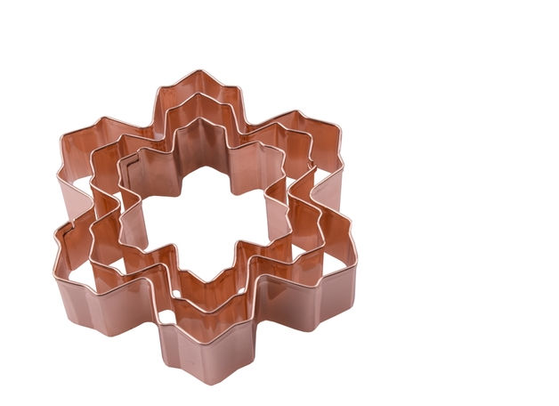 Snow Flake Cookie Cutters - Copper Plated