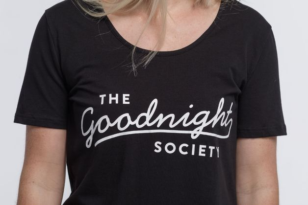 The Goodnight Society: Short Sleeve Tee Logo Print (Black) - XS
