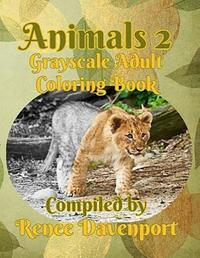 Animals 2 Grayscale Adult Coloring Book image