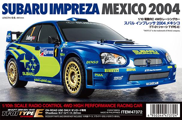 TAMIYA 1/10 Subaru Impreza Mexico 2004 - TT01E - Assembly kit image