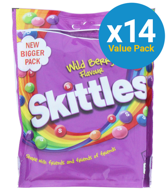 Skittles: Pouch Wildberry 196g (14 Pack)