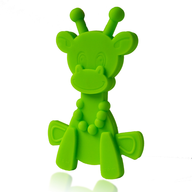 Little Bam Bam Silcone Teether - Lime