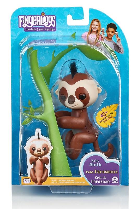 Fingerlings: Interactive Baby Sloth - Brown