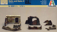 Italeri Walls & Ruins II (WWII) 1:72 Model Kit