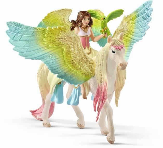Schleich : Fairy Surah with Glitter Pegasus