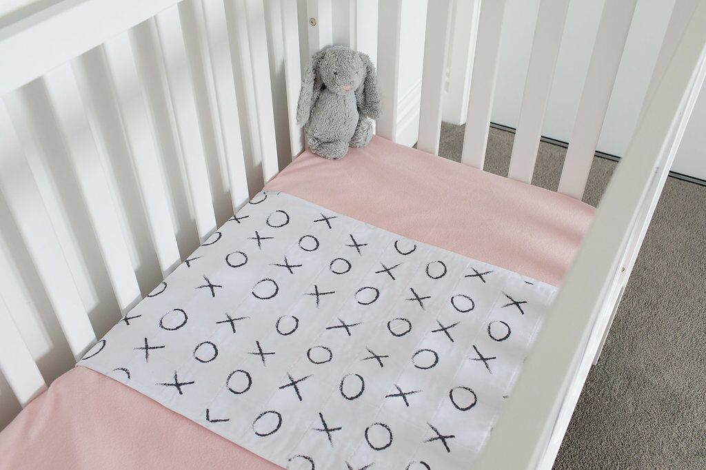 Brolly Sheets: Cot Pad with Wings - Hugs and Kisses image