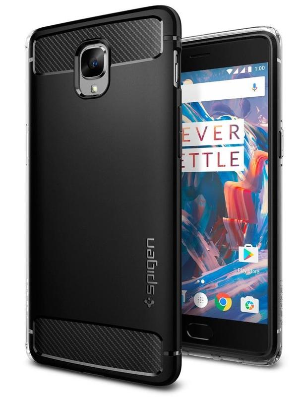 Spigen: OnePlus 3/3T - Rugged Armour Case (Black)