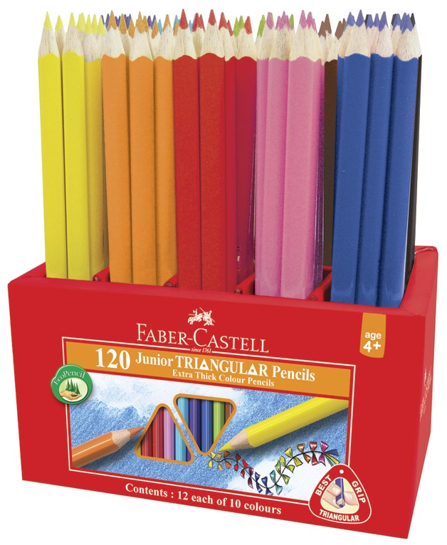 Faber-Castell: Juniour Triangular Colour Pencils (Caddie of 120)