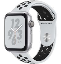 Apple Watch S4 Nike 44mm Silver Aluminium Case with Platinum Black Nike Sport Band
