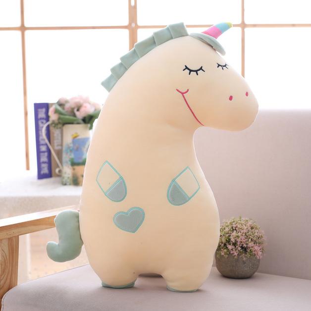 Smiley Unicorn - Yellow (55cm)