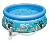 Intex: Ocean Reef Easy Set Pool (with 220-240v Filter Pump)