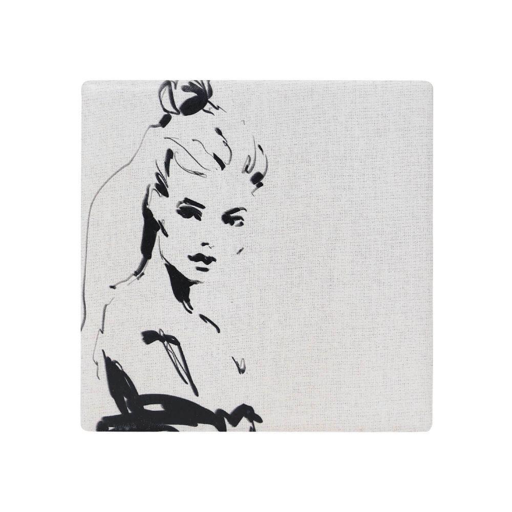 Splosh: Full Bloom Lady Ceramic Coaster image