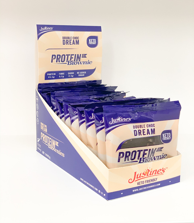 Justine's Protein Brownies - Double Choc Dream (Box of 12)