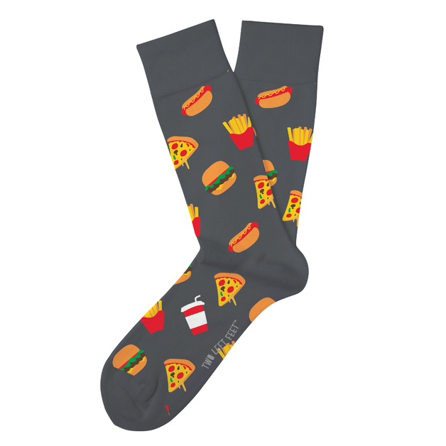 Two Left Feet: Drive Thru Junky Everyday Socks - Big