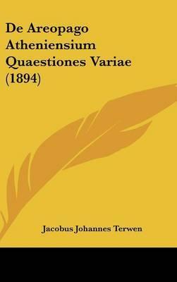 de Areopago Atheniensium Quaestiones Variae (1894) by Jacobus Johannes Terwen image