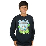 Minecraft Adventure with Logo Youth Long Sleeved Shirt (XL)