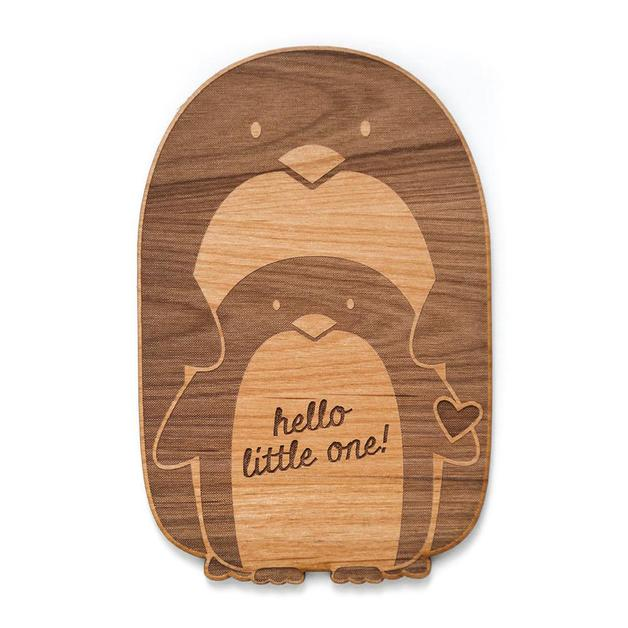 Cardtorial Wooden Card - Baby Penguin