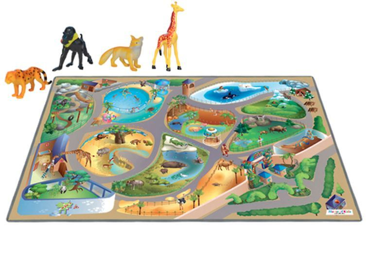 Zoo Playmat with Animals image
