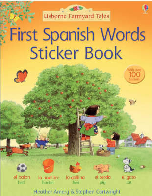 First Spanish Sticker Book by Heather Amery image