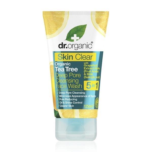 Dr. Organic - Skin Clear Organic Tea Tree Deep Pore Face Wash (125ml)