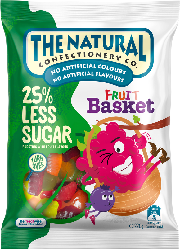The Natural Confectionery Co Fruit Basket Reduced Sugar (220g)