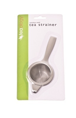 Stainless Steel Long Handle Tea Strainer with Drip Bowl