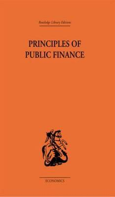 Principles of Public Finance by Hugh Dalton image
