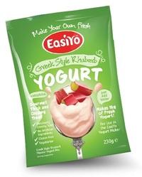 EasiYo Gourmet Range Greek & Rhubarb
