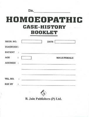 Homoeopathic Case History Booklet image