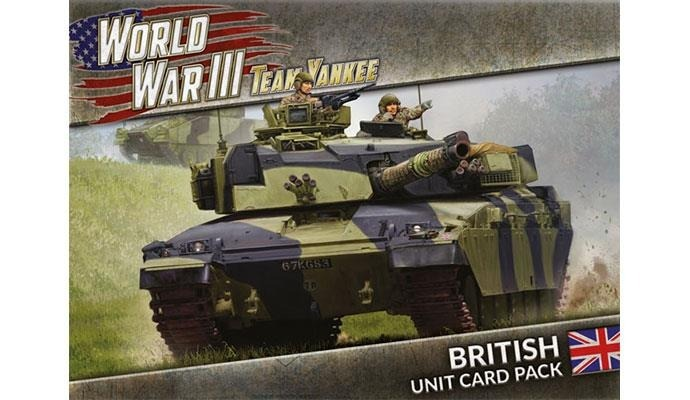 WWIII: British Unit Card Pack (39 cards) image