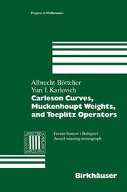 Carleson Curves, Muckenhoupt Weights, and Toeplitz Operators by Albrecht Bottcher