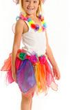 Fairy Girls - Pixie Skirt (Rainbow, age 3-8)