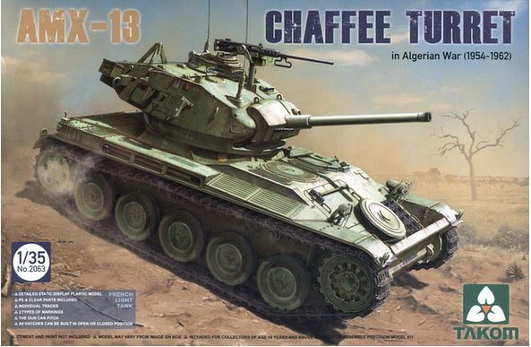 Takom: 1/35 AMX-13 Chaffee Turret Model Kit
