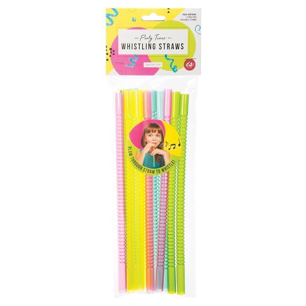 IS GIFT: Whistling Reuseable Straws