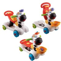 Vtech - Animal Fun 3 in 1 Zebra Scooter image
