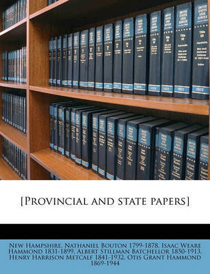 [Provincial and State Papers] Volume 20 by New Hampshire