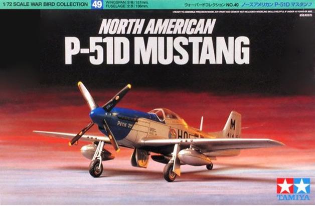 Tamiya U.S. North American P51D Mustang 1/72 Aircraft Model Kit
