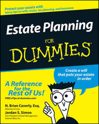 Estate Planning For Dummies by N Brian Caverly