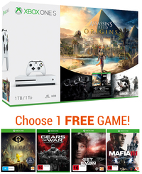Xbox One S 1TB Assassin's Creed Origins Bundle for Xbox One image