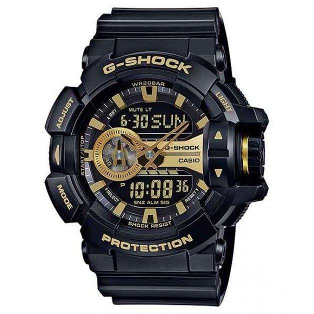 Casio G-Shock Black / Gold Analogue/Digital Mens Watch GA400GB-1A9 GA-400GB-1A9DR
