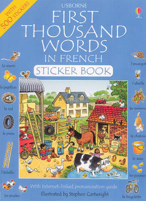 First Thousand Words in French: Sticker Book by Heather Amery image