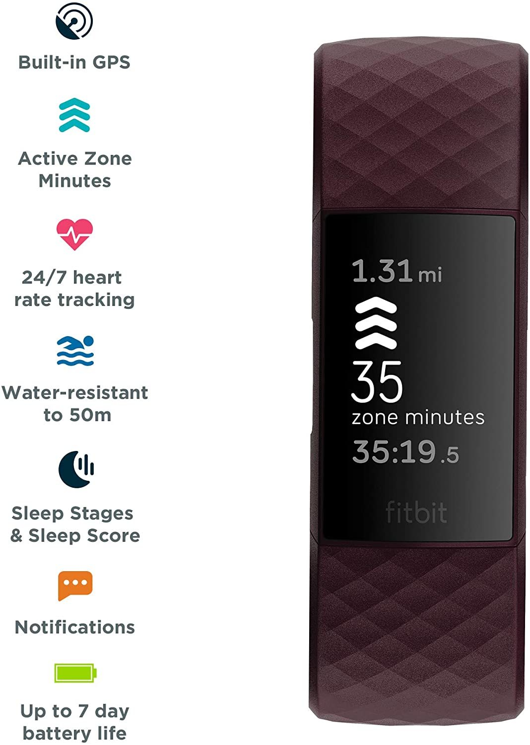 Fitbit Charge 4 Fitness Tracker - Rosewood image