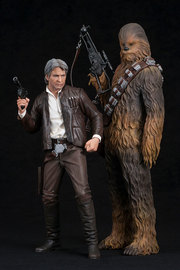 Star Wars: 1/10 Han Solo & Chewbacca - Artfx+ Figure Set