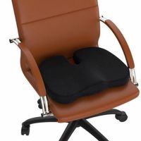 Office Chair Cushion with Memory Foam & Comfort Gel - Black