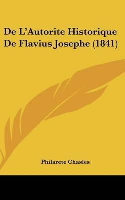 de L'Autorite Historique de Flavius Josephe (1841) by Philarete Chasles image