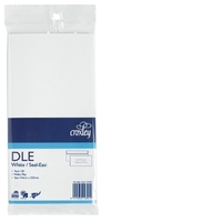 Croxley DLE Non-Window Seal-Easi White Envelope - Pkt 100