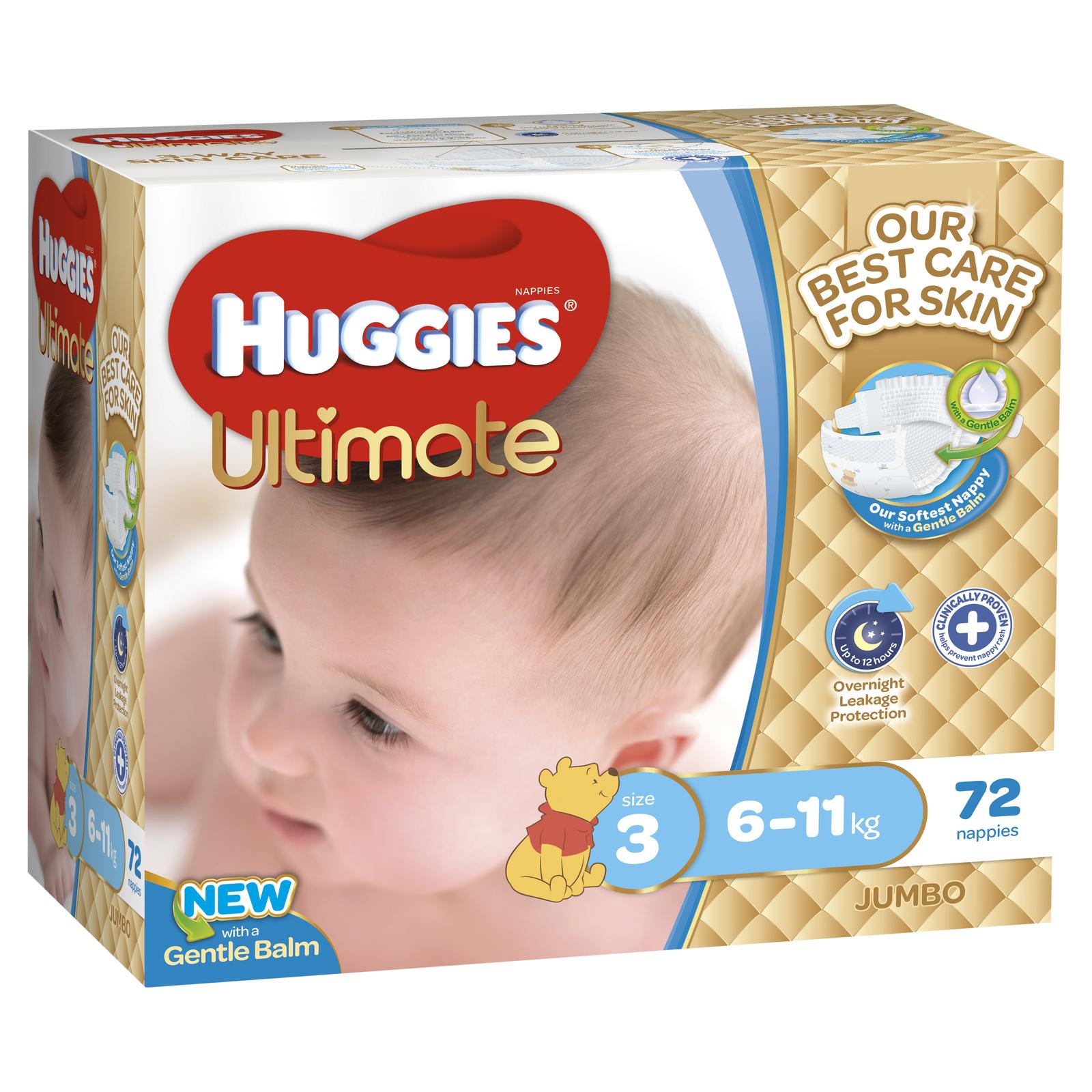 Huggies Ultimate Nappies: Jumbo Pack - Crawler Boy 6-11kg (72) image