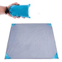 Mini Pocket Waterproof Picnic Beach Mat Blanket (140x152cm) - Grey